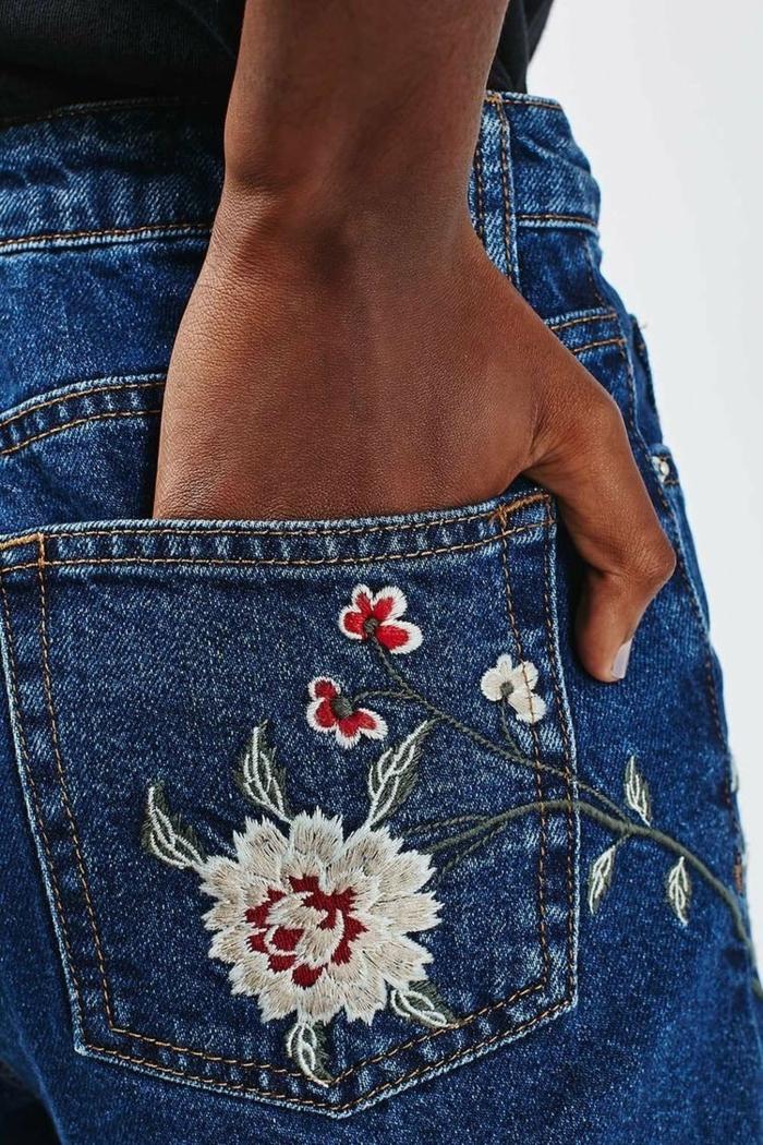 broder les poches customiser un jean