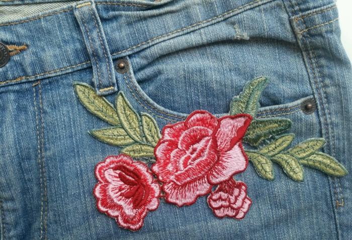 broderie customiser un jean facilement