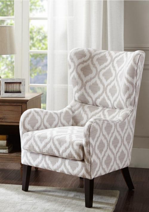 chaise cosy couleur blanc et gris
