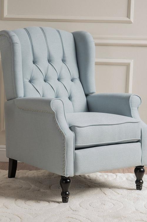 chaise cosy couleur gris pâle