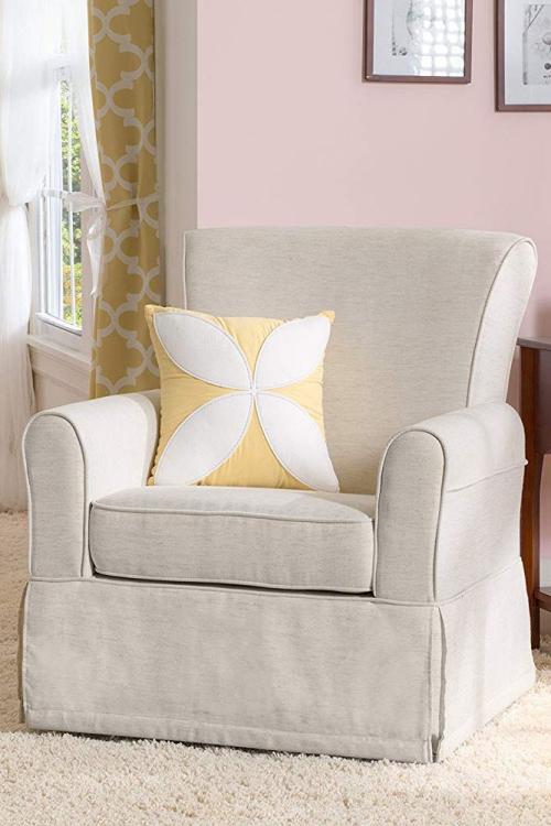 chaise cosy tissu en blanc cassé