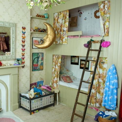 chambre fille deux lits superposés