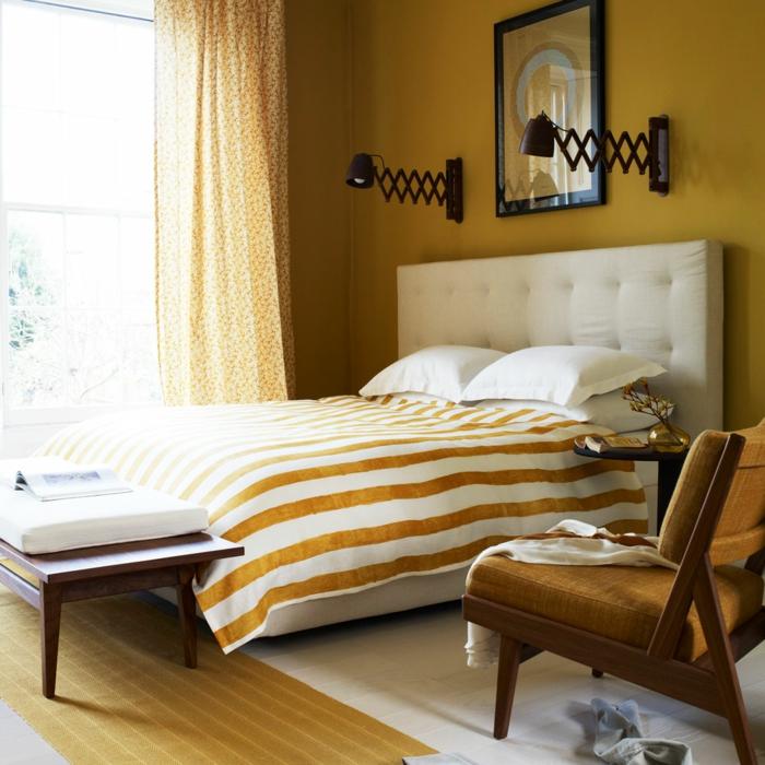 chambre moderne décorée en jaune gen-z