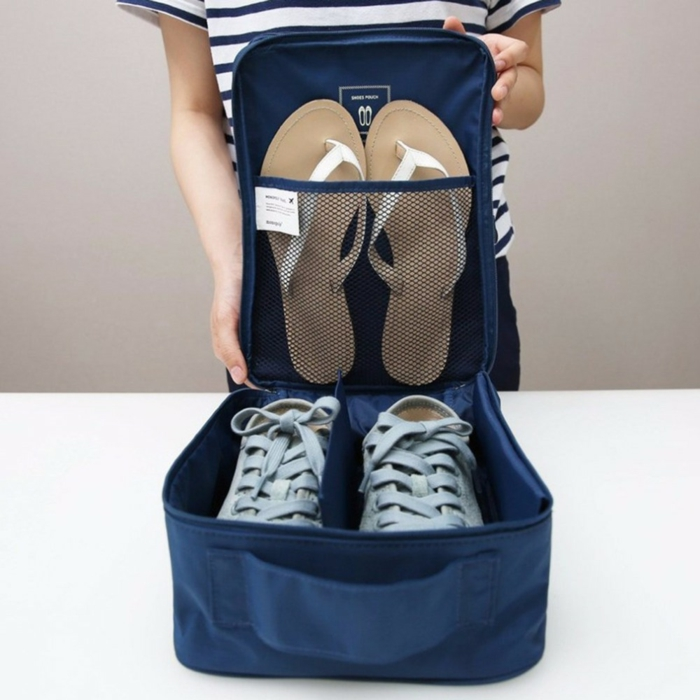 chaussures comment ranger sa valise