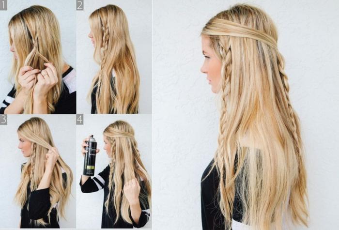 coiffure femme tresse épis de blé