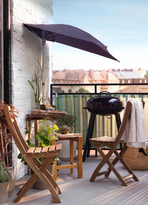 comment aménager un balcon coin barbecue