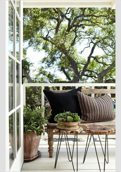 comment aménager un balcon style shabby chic
