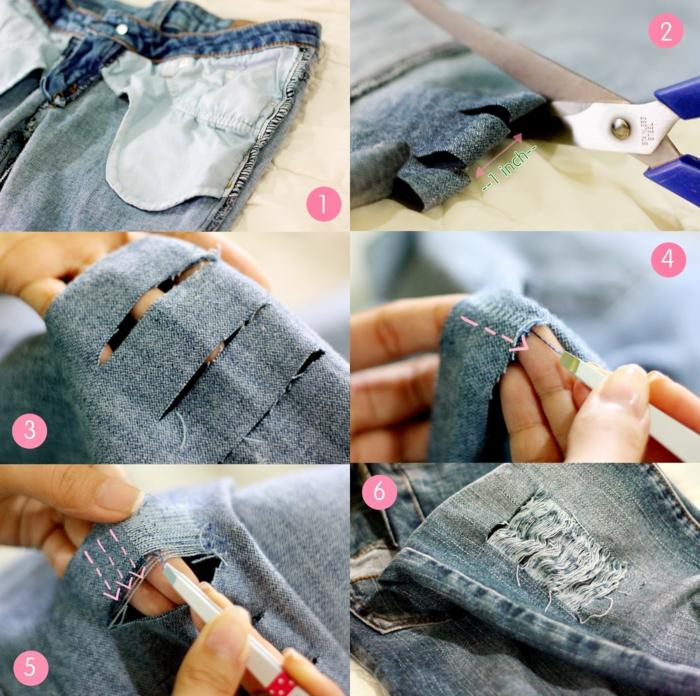customiser un jean