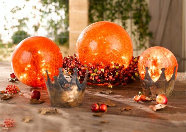 déco automne à faire soi-même boules lumineuses