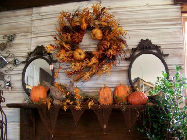 déco automne à faire soi-même couronne décorative mûr