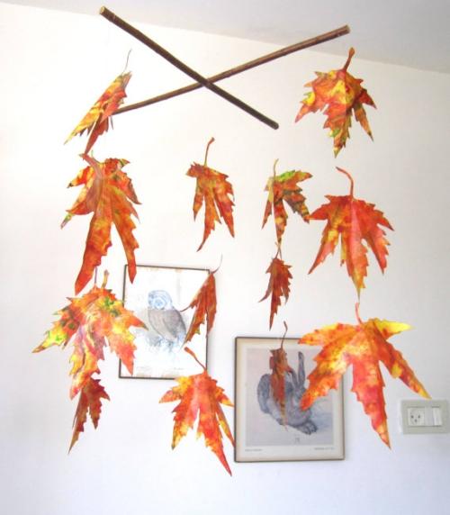 déco automne à faire soi-même croix de baguettes