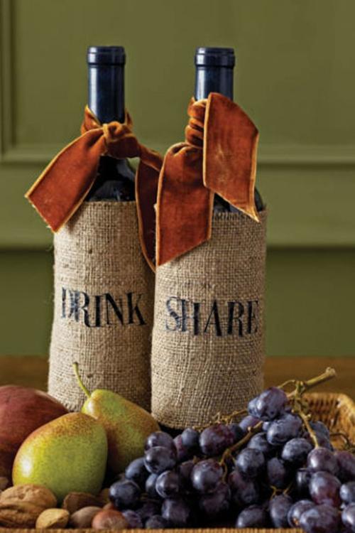 déco automne à faire soi-même dernière récolte de vin