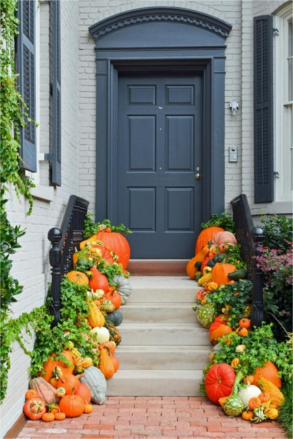 déco automne à faire soi-même idée déco escalier extérieur