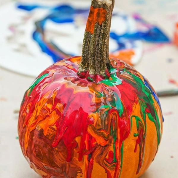 déco automne à faire soi-même peinture citrouille