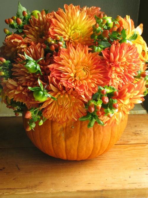 déco automne à faire soi-même un vase magnifique