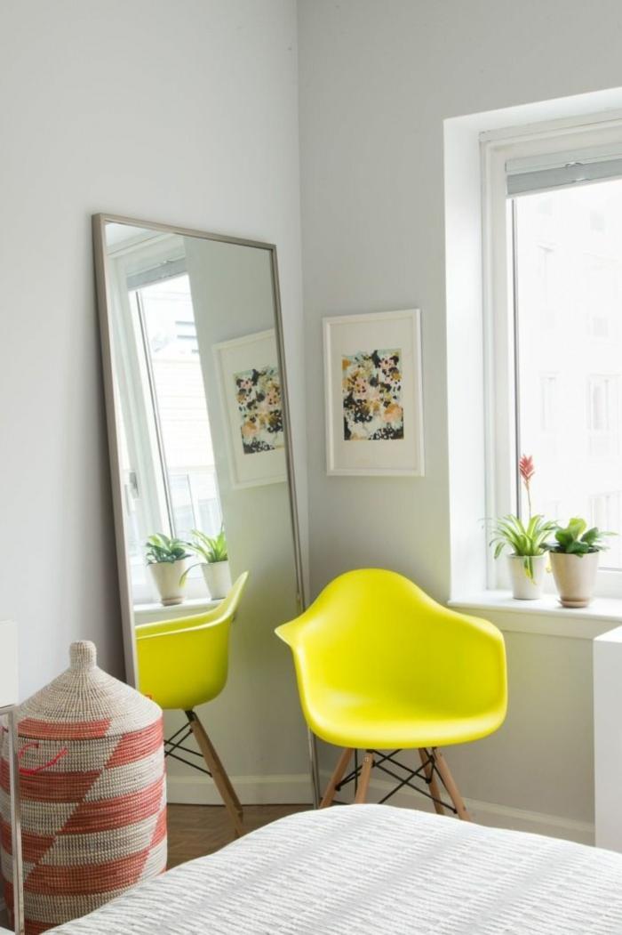 déco chambre fauteuil jaune gen-z