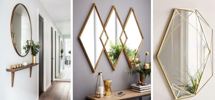 déco couloir étroit avec des miroirs