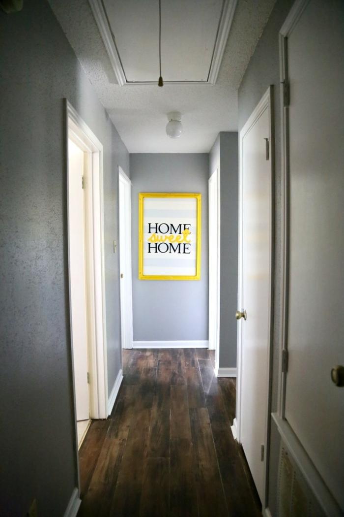 déco couloir étroit tableau décoratif
