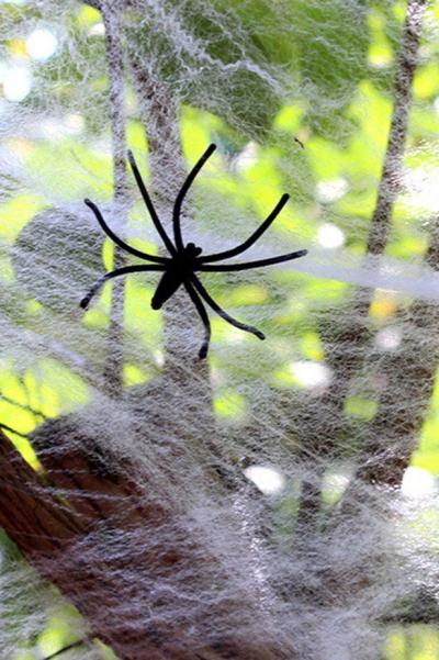 déco extérieure Halloween fausse toile d'araignée