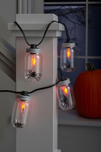 déco extérieure Halloween luminaires bizarres