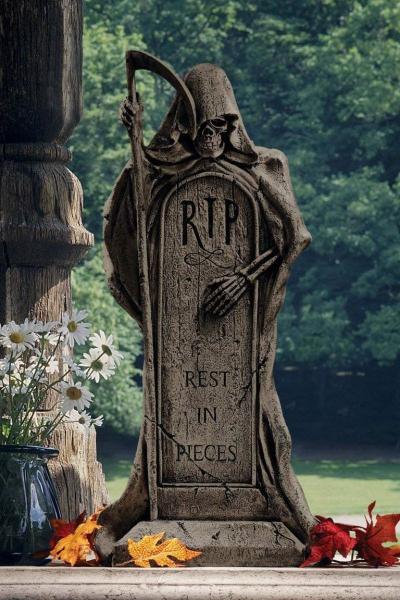 déco extérieure Halloween un cimetière horrifiant