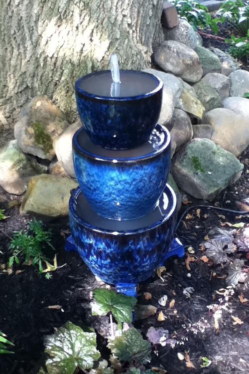 déco jardin fontaine coin-fraîcheur dans le jardin