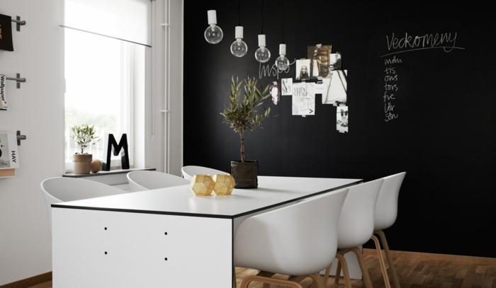 déco murale pour salle à manger tableau magnétique noir