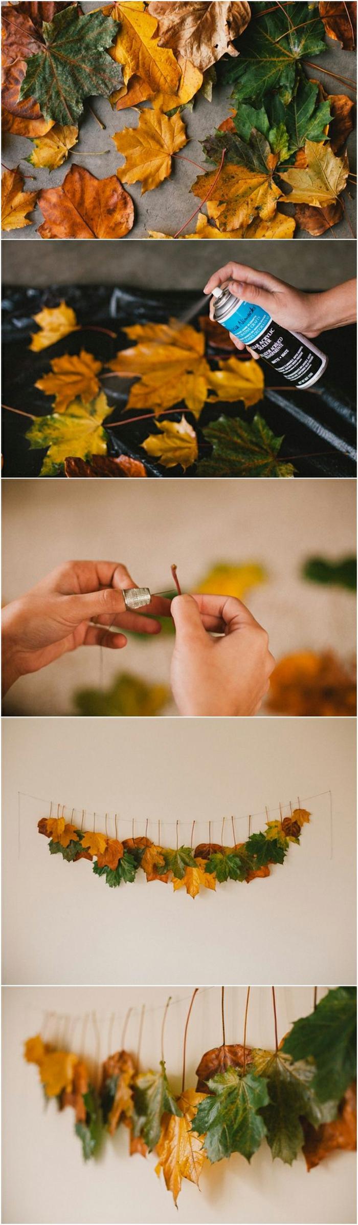 déco pas à pas avec des feuilles d'automne
