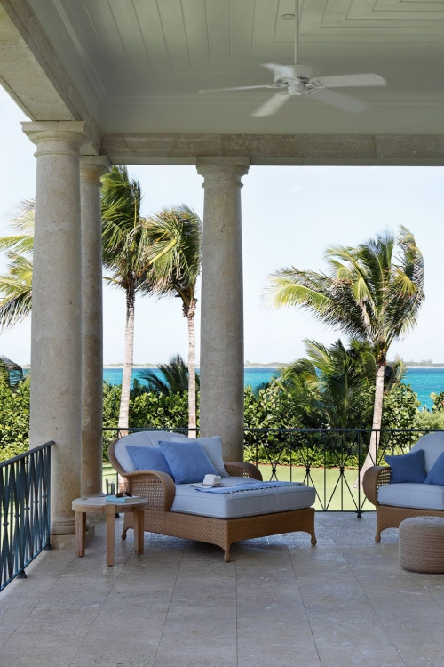 déco patio maison de plage avec terrasse