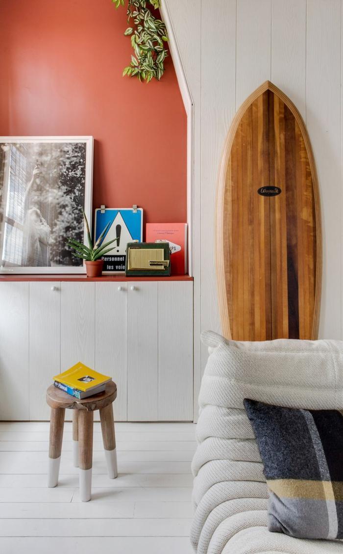 déco planche de surf pour un espace style bord de mer