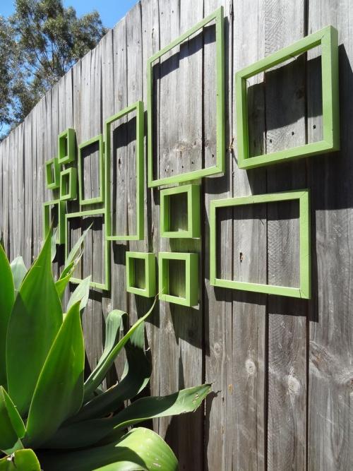 déco pour mur extérieur mur de planches très haut