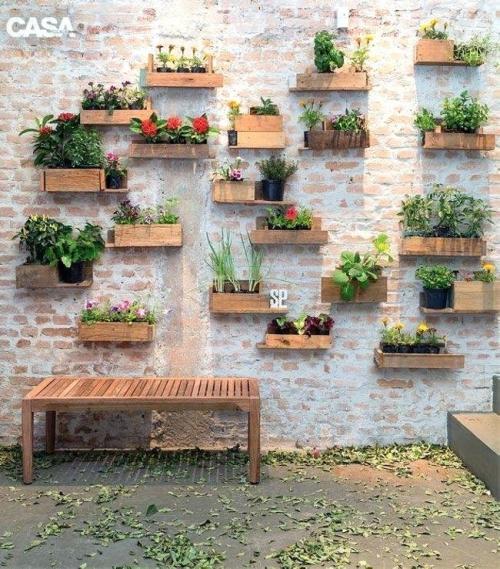 déco pour mur extérieur vieux mur en briques