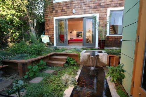 déco salon jardin à quelques marches de la maison