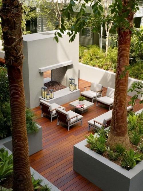 déco salon jardin coin-détente séparé de la maison
