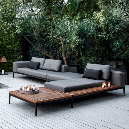 déco salon jardin large plate-forme en bois