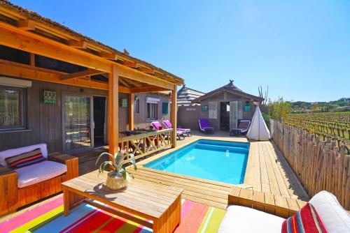 déco salon jardin petite maison dans les vignobles