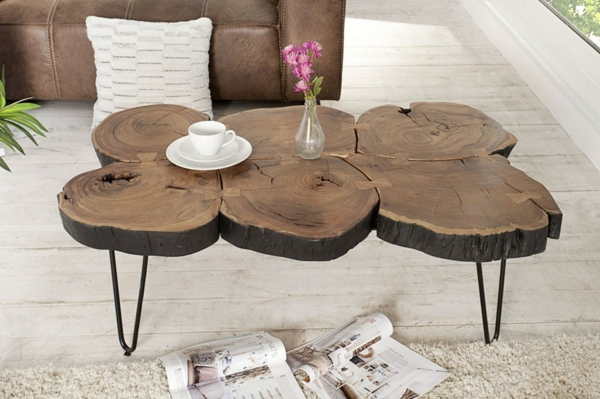 table basse tronc d 39 arbre projet diy simple r aliser. Black Bedroom Furniture Sets. Home Design Ideas