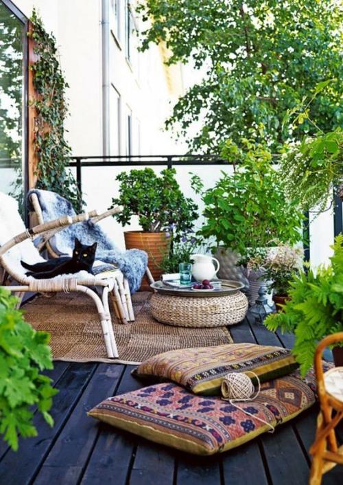 décoration balcon large espace ouvert
