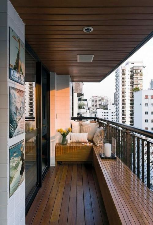 décoration balcon long et étroit