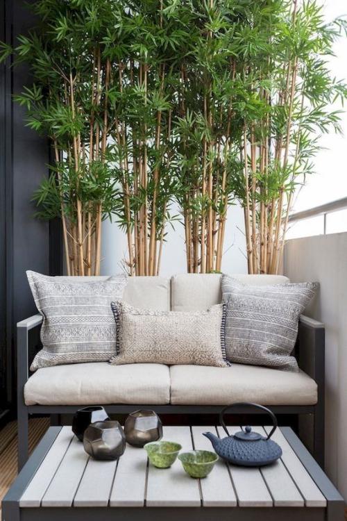 décoration balcon style moderne en gris