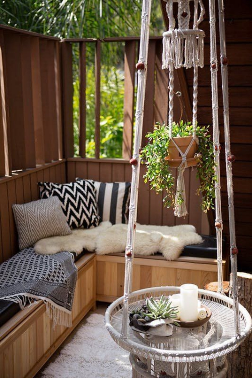 décoration balcon terrasse en bois