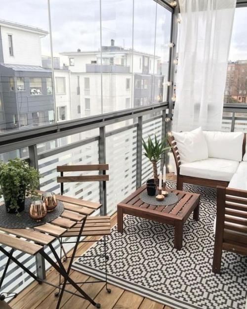 décoration balcon terrasse fermée