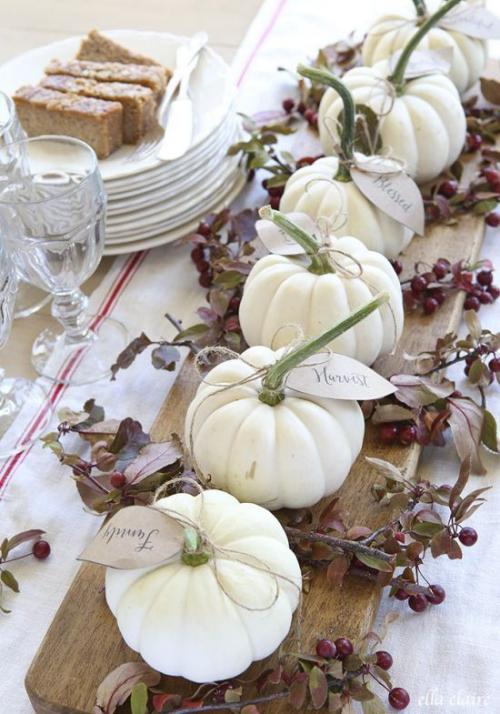 décoration citrouille abondance sue la table