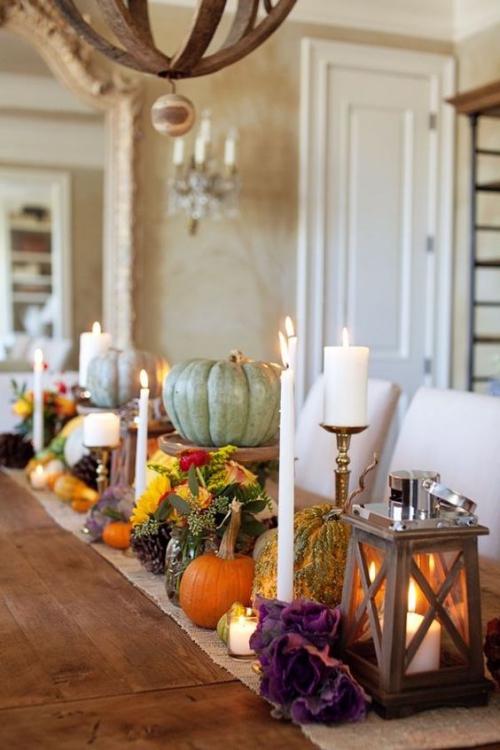 décoration citrouille beau décor automnal