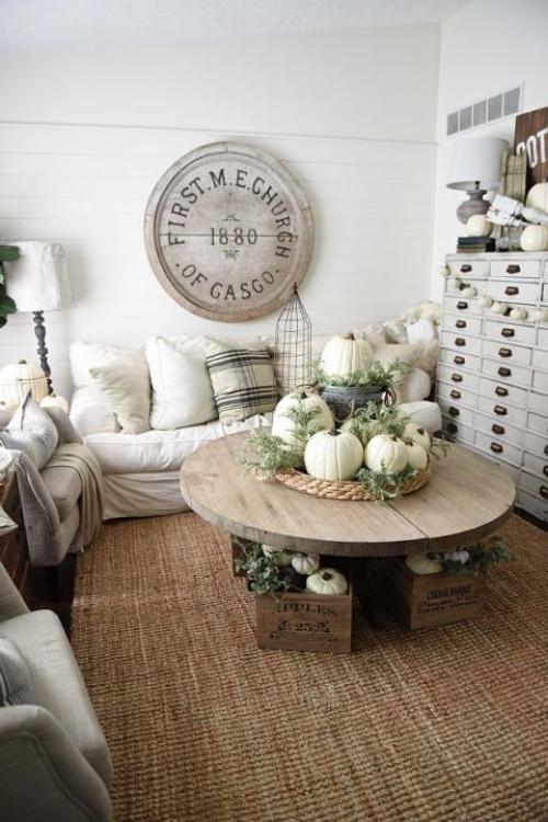 décoration citrouille bel ornement de table