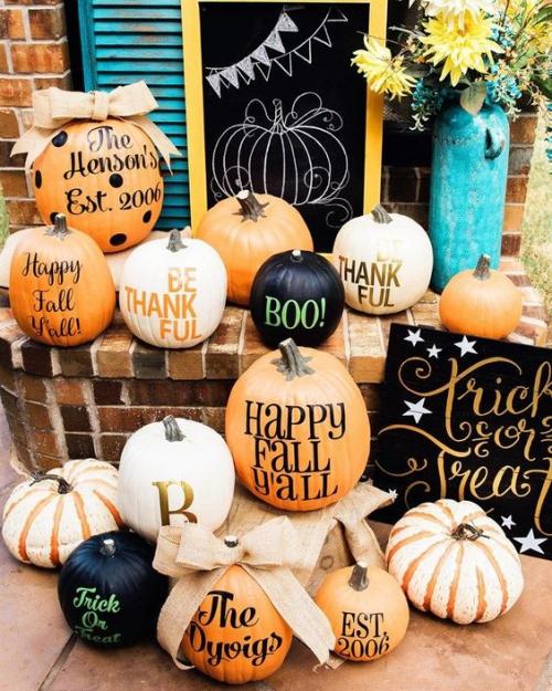 décoration citrouille des cadeaux d' automne