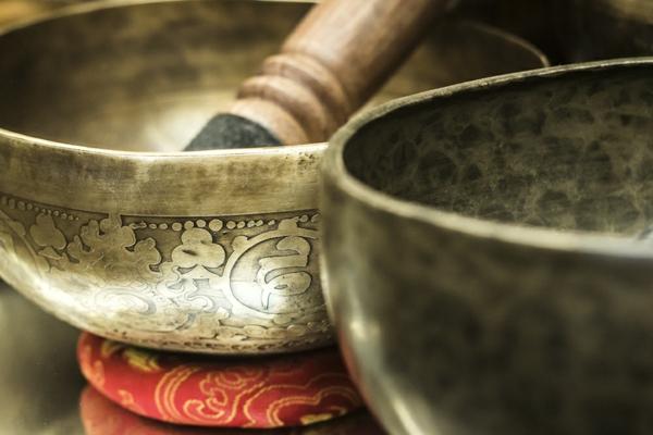 décoration de bol tibétain