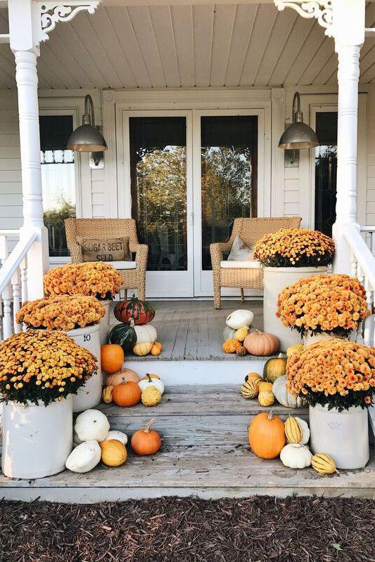 décoration jardinière extérieure entrée de la terrasse