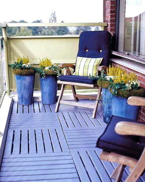 décoration petit balcon style bord de mer
