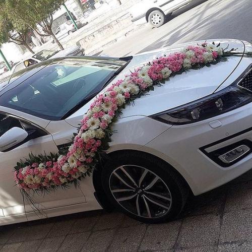 décoration voiture mariage guirlande magnifique